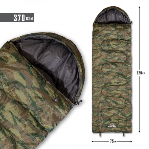 MAJOR SLEEPING BAG 370GR/m² CAMO D19002-Camo